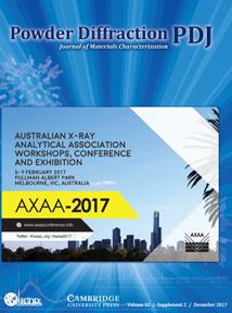 Powder Diffraction Journal December 2017 Supplement Coverart