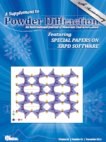 Powder Diffraction Journal December 2011 Supplement 1 coverart
