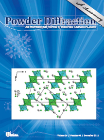 Powder Diffraction Journal December 2011 coverart