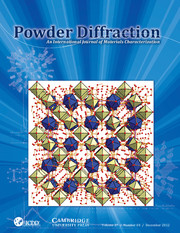 Powder Diffraction Journal December 2012 coverart