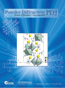 Powder Diffraction Journal December 2013 coverart