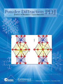 Powder Diffraction Journal December 2015 Coverart