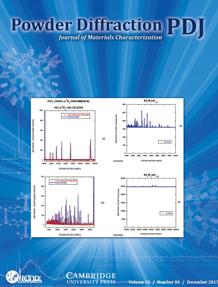 Powder Diffraction Journal December 2017 Coverart