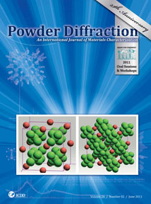 Powder Diffraction Journal June 2011 coverart