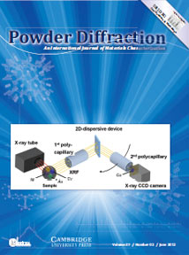 Powder Diffraction Journal June 2012 coverart