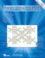 Powder Diffraction Journal June 2013 coverart