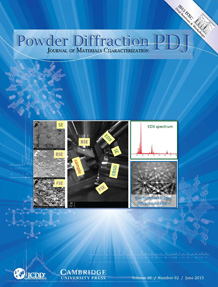 Powder Diffraction Journal June 2015 Coverart