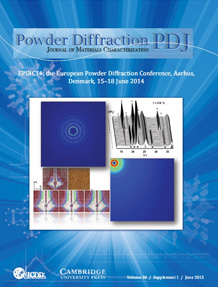 Powder Diffraction Journal March 2015 Supplement Coverart
