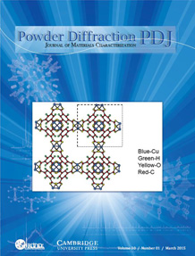 Powder Diffraction Journal March 2015 Coverart