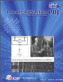 Powder Diffraction Journal March 2017 Coverart