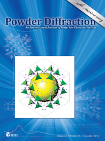 Powder Diffraction Journal September 2011 coverart