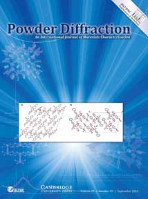 Powder Diffraction Journal September 2012 coverart