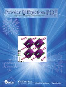 Powder Diffraction Journal September 2013 Supplement 1 coverart
