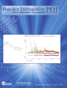 Powder Diffraction Journal September 2015 Coverart