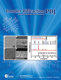 Powder Diffraction Journal June 2018 Coverart