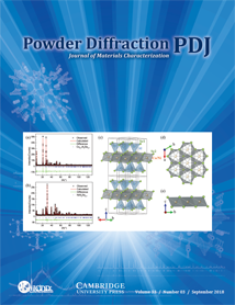 Powder Diffraction Journal September 2018 Coverart