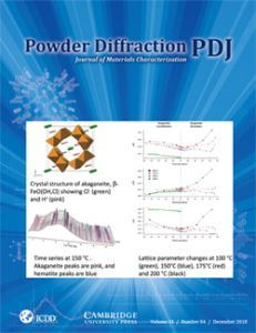 Powder Diffraction Journal December 2018 Coverart