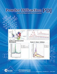 Powder Diffraction Journal June 2019 Coverart