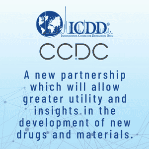 CCDC and ICDD - new drugs and materials