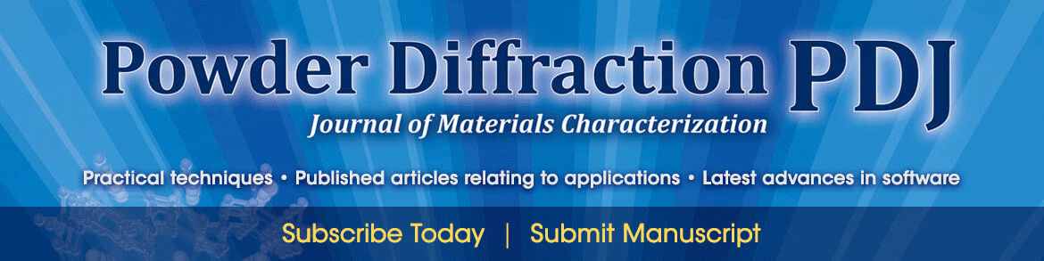 Powder Diffraction Journal of Materials Characterization