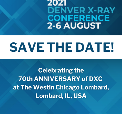 Save the Date for Denver X-ray Conference
