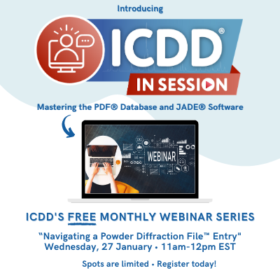 ICDD In Session January 2021