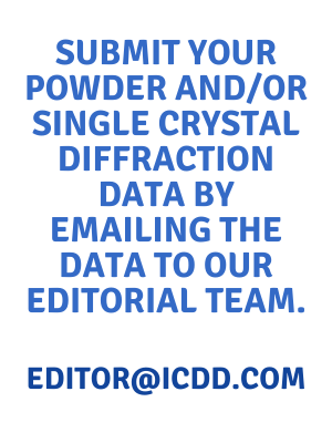 Data Submission for Powder and Single Crystal Diffraction Data