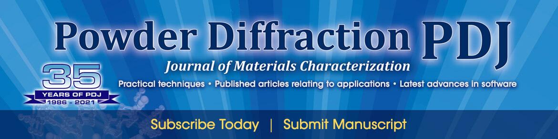 Powder Diffraction Journal Anniversary