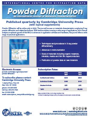 Powder Diffraction Journal Flyer