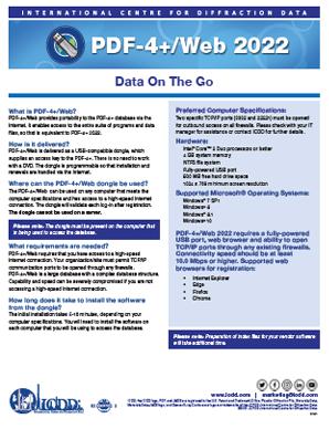 PDF-4+/Web Product Information
