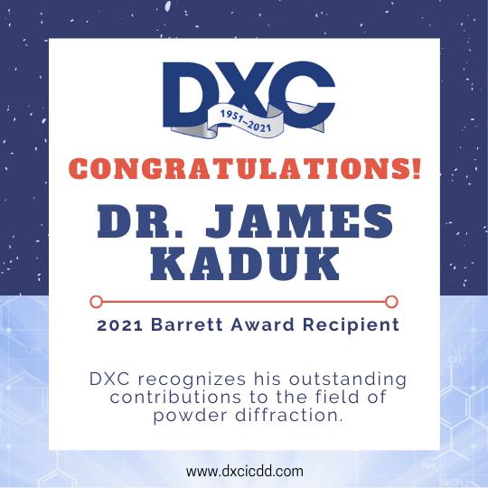 Barrett Award - James Kaduk