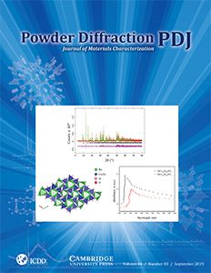 Powder Diffraction Journal Sept 2019 Coverart