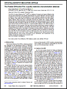 The Powder Diffraction File: a quality materials characterization database